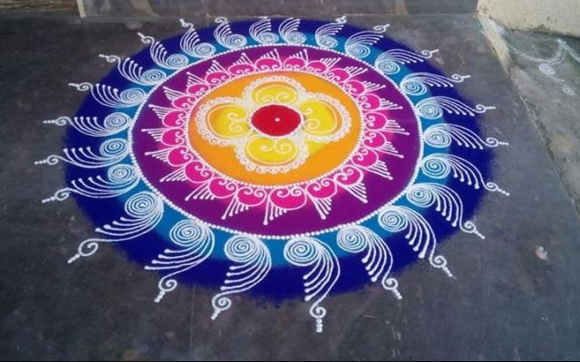 Latest Sanskar Bharti Rangoli Designs Images, Wallpaper, Video for ...