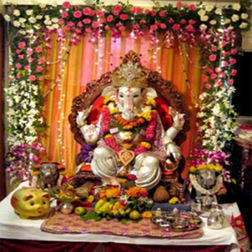 Ganesh Chaturthi Decoration For Home Makhar Flower